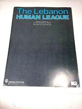 Vintage Human League sheet music ~  'The Lebanon' 1984