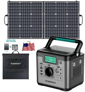 ⚡ 518Wh Portable Puissance Station Solaire Générateur 144000mAh Avec 100W Panel