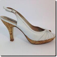Steve Madden White Platform Heels 10