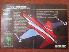 5/1982 PUB NORTHROP F-5G TIGERSHARK USAF AIR FORCE TACTICAL FIGHTER ORIGINAL AD
