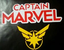 CAPTAIN MARVEL  Sticker / car decal 2 PACK