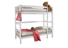 Weiße Kinder-Bettgestelle ohne Matratze aus Buche zum Zusammenbauen