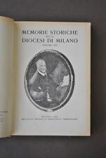 Memorie Diocesi Milano Appestati Nicolò Ormaneto Pastorale S. Carlo 1961