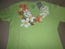 Matson Lines Ladies Floral Print Aloha Beach 100% Soft Cotton T-Shirt Size S