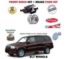 FOR SUZUKI GRAND VITARA 2.0 DT XL7 2003-12/2005 FRONT BRAKE DISCS SET+ PADS KIT