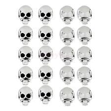 20PCs ALLERGY FREE Plastic Skull Skeleton Earrings Ear Studs Pin Jewelry lot