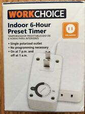 New Work Choice Indoor 6-Hour Preset Timer