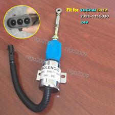 For Cummins 232C-1115030 Yuchai DIESEL 6112 Fuel Shutoff Stop Solenoid Valve 24V