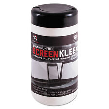 Read Right ScreenKleen Monitor Screen Wet Wipes Cloth 5 1/4 x 5 3/4 50/Tub