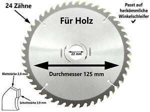 125mm 14Zähne Kreissägeblatt Winkelschleifer Sägeblatt für Holz Gravieren NEU