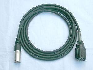 Tuchel Adapter Kabel Großtuchel - XLR 2m Mikrofonkabel für Sennheiser MD421 etc.