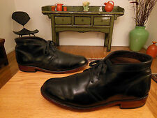Vtg FRYE Men's Black Leather Laced 'Walter Chukka' Shoes 11.5M #87164 USA Sweet!