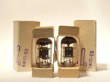 Matched pair 6J1P-EV (6Zh1P EF95) gold platinum grid 1970` NEW NIB Little dot
