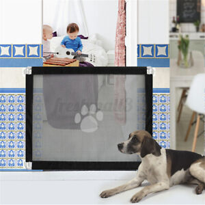 Mesh Pet Dog Gate Safe Guard And Install Anywhere Pets Safety  *