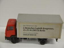 6 ) NZG 1:50 Mercedes Benz 709-1114 (Kofferaufbau) No. 250 LKW Werbemodell 1985