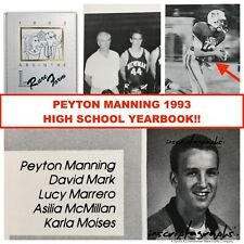 PEYTON MANNING RARE 11TH GRADE 1993 HIGH SCHOOL YEARBOOK BRONCOS COLTS UN SIGNED
