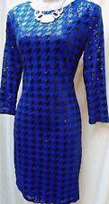 TFNC (LONDON)  Cocktail Dress  SIZE M  Royal Blue with Black Sequin Detail