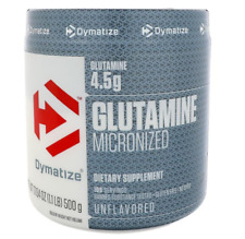 NEW DYMATIZE NUTRITION GLUTAMINE MICRONIZED DIETARY SUPPLEMENT DAILY BODY CARE
