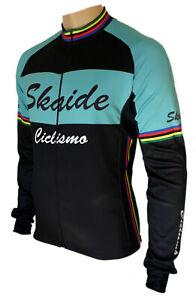 Radtrikot Skaide Ciclismo Celeste langarm (auch Übergrößen bis 6XL)