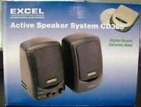 Altavoces Activos Excel CD388 10W.para mp3/mp4 etc. Color: Negro