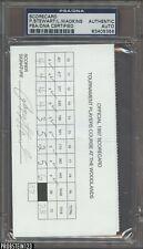 Lanny Wadkins Signed Golf Scorecard w/ RARE Payne Stewart AUTO PSA/DNA