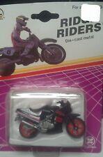 Kawasaki NINJA Street Bike Ridge Riders Zee Toys Blister Motorcycle vtg 80s NIP
