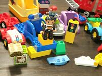 Lot Of Lego Duplo Pieces Construction Cars Truck Train over 50 pieces Play Set