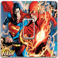 Superman Flash Light Switch Vinyl Sticker Decal for Kids Bedroom #282