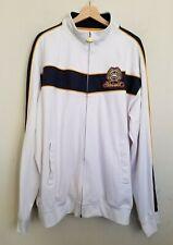 Ecko Unltd Track Jacket White Stand Collar Zip Front Pockets Navy Logo Size XXL