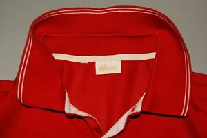 Great Brioni Red Cotton Solid Short Sleeve Polo Shirt Size XL
