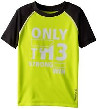 REEBOK BOY'S RAGLAN SHORT SLEEVE ONLY STRONG TEE SIZE LARGE (14-16) MSRP $26.00