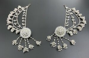 Indian Bollywood Gold Plated Polki Bahubali Earring Jhumki jhumka Silver