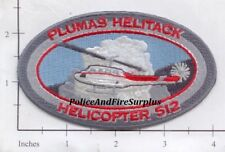 California - Plumas Helitack Helipcoter 512 Forest Fire Dept Patch