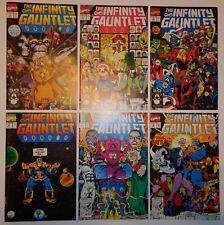 Thanos Marvel Infinity Gauntlet set 1-6 NM MT Movie Thor Iron Man Vision hulk
