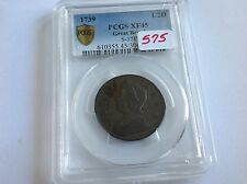 1739 Great Britain 1/2 D PCGS XF 45