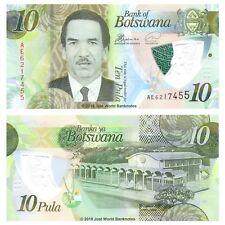 Botswana 10 Pula 2018 Polymer P-New Banknotes UNC