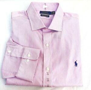 Polo Ralph Lauren Classic Fit Size 18 34-35 Cotton Stretch Long Sleeve Shirt