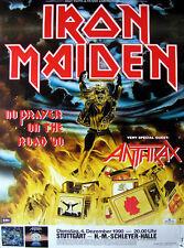 Original Konzertplakat Iron Maiden  1990 Stuttgart Schleyerhalle