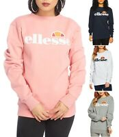 ellesse Womens Agata Crew Neck Retro Logo Sports Sweatshirt Ladies Sweat Top