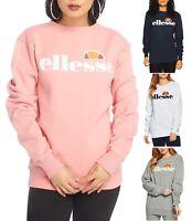 ellesse Womens Agata Crew Neck Retro Logo Sports Sweatshirt Ladies Sweat Top