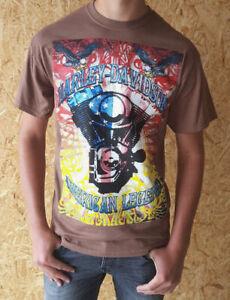 Harley Davidson Herren T-Shirt Gr. M kurzarm Braun Neu und ungetragen Shirt