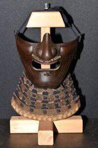 (AN-97) TETU (Iron) SABIJI MENPO of KABUTO YOROI Edo