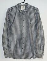 Rodd and Gunn men's Italian fabric long sleeve grey check shirt size XL
