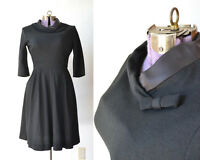 TRUE VINTAGE 1950s 50s 1960s 60s Dress Black Costume ONLY  medium