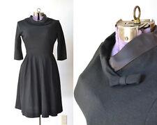 TRUE VINTAGE 1950s 50s 1960s 60s Dress Black Costume ONLY  medium