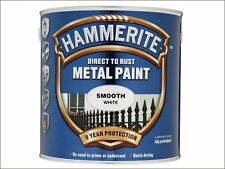 Hammerite - Direct to Rust Smooth Finish Metal Paint White 2.5 Litre