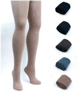 Womens Warm Thick Opaque 80% Cashmere Wool Tights   Winter