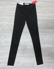 NWT American Apparel Women's Easy Jeans w/ Elastic Waist Black Size X-SMALL #2