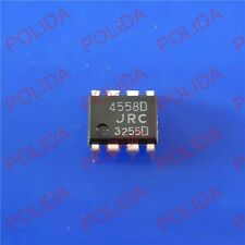100PCS DUAL OP AMP IC JRC DIP-8 NJM4558D JRC4558D 4558D 100% Genuine and New