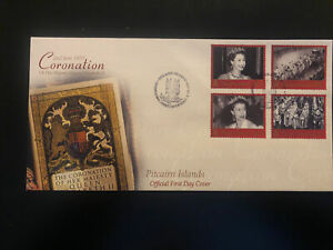 Pitcairn Islands 2003, FDC, Anniversary Coronation QEII, Excellent Condition